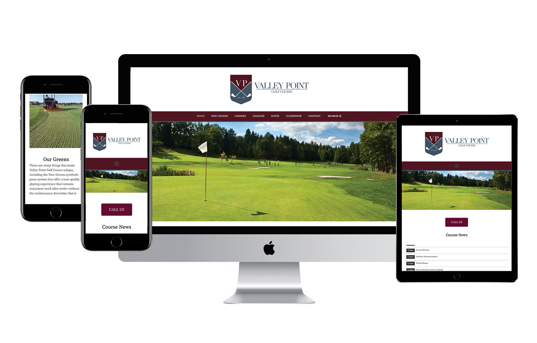 Valley Point Golf Course Website Launch